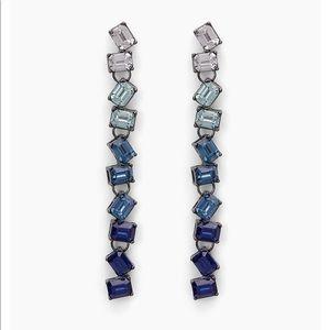 Ombre Linear Stone Drop earrings